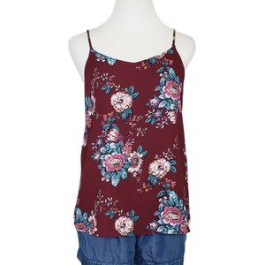 Pink Republic Floral Camisole Plum Small